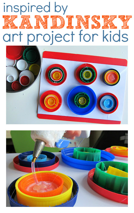 Recycle Lids: Art Projects for Preschool Kids from Pinterest Scavenger Hunt