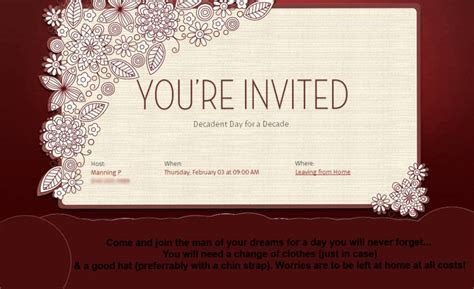Ten Year Anniversary Invitation Template For Powerpoint