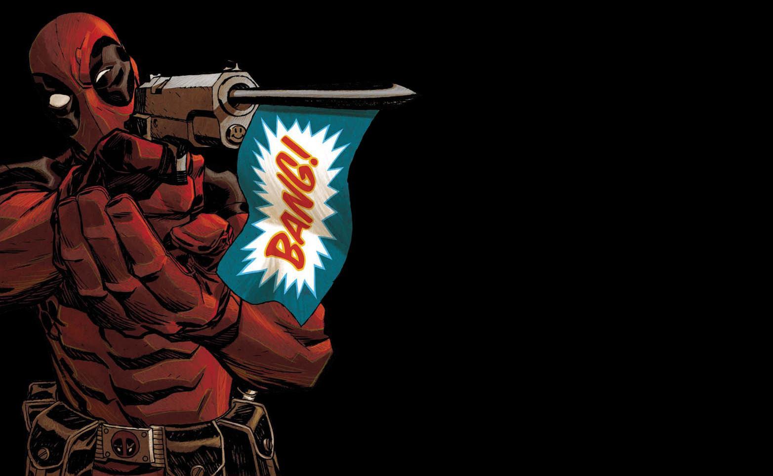 Deadpool Cartoon Mobile Wallpaper