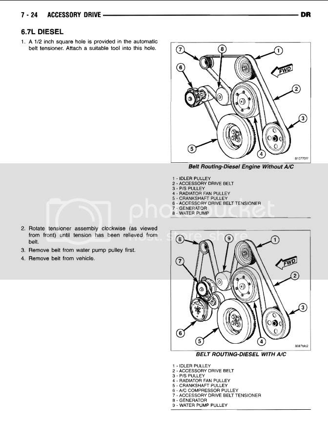 2011 67 Cummins Serpentine Belt Diagram
