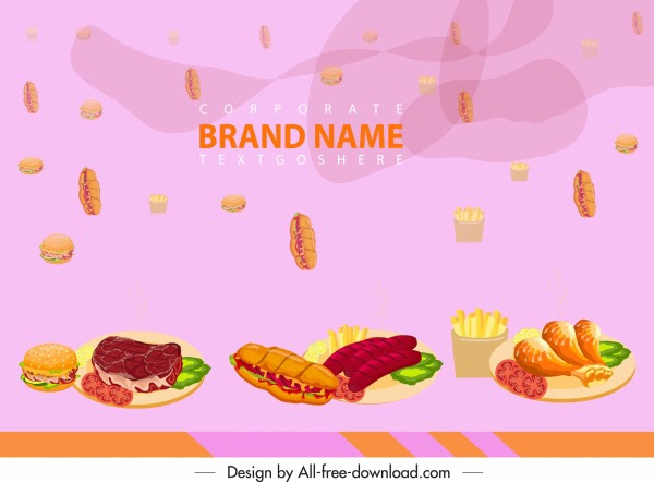 Background Spanduk Menu Makanan - desain spanduk keren