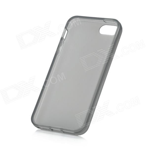 Protective Silicone Case For Iphone 5 Transparent Grey Free