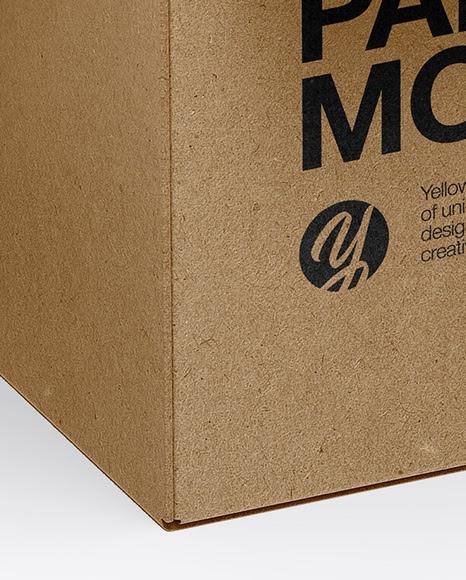 Download Kraft Chocolate Box Mockup Half Side View - Download Free ...