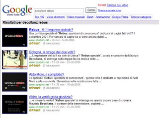 REBUS su Google Video - by www.mariorossi.net