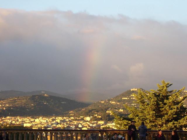 firenze da P.le Michelangelo con arcobaleno