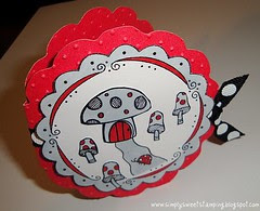 lady bug mushroom house card