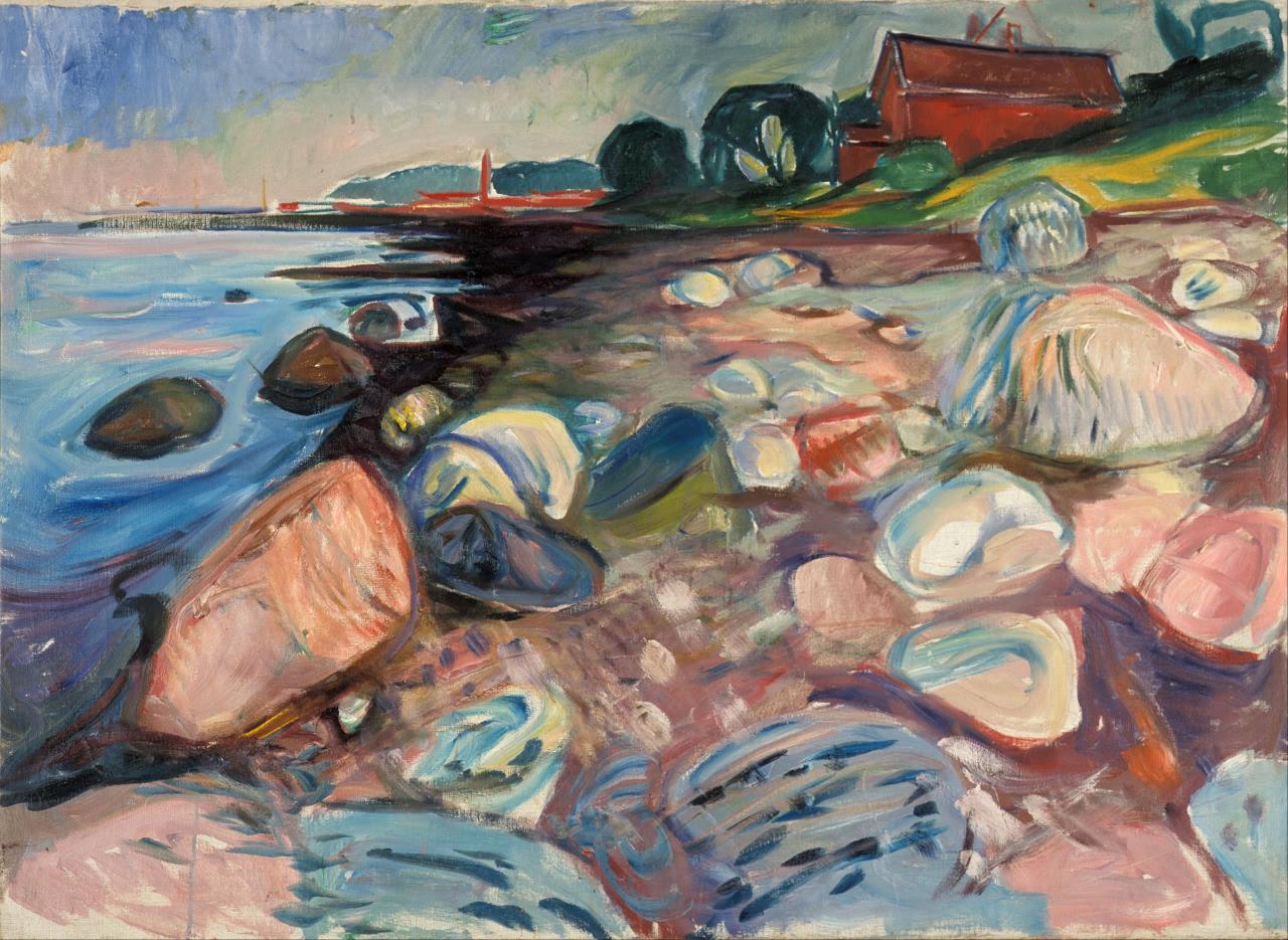 artishardgr:  Edvard Munch - Shore with Red House 1904HD