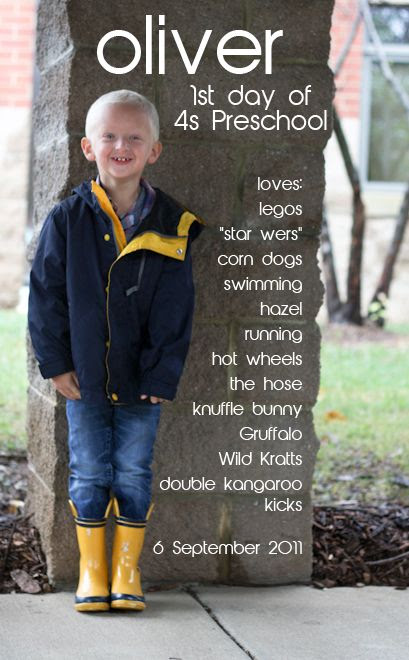 make a list of everything your child loves on the first days of school