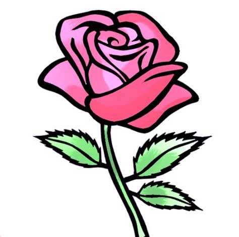 gambar animasi bunga mawar merah