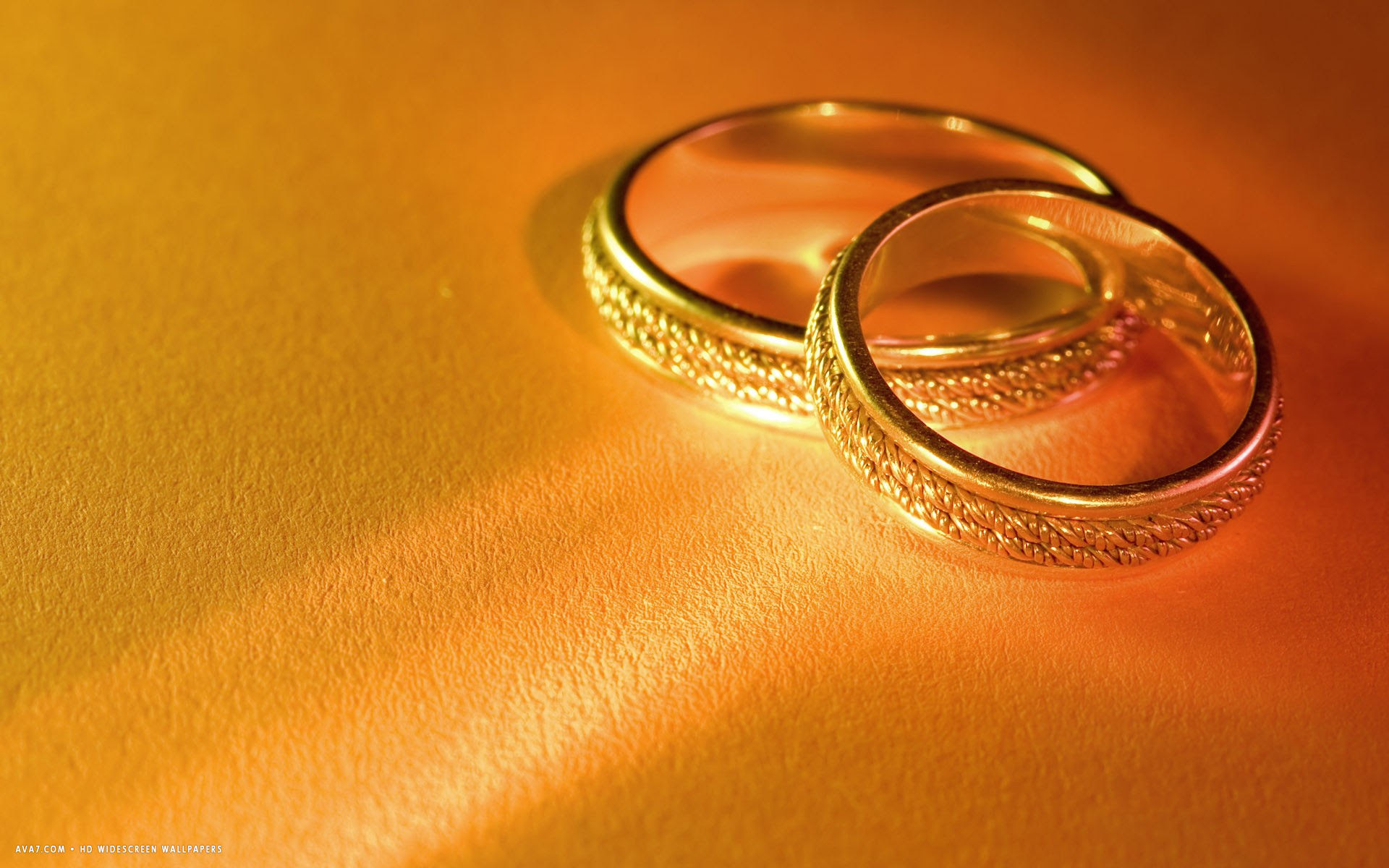 wedding rings pair golden gold hd widescreen wallpaper \/ romantic backgrounds