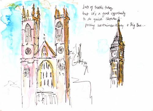 Big Ben from Bus No. 24, London, UK