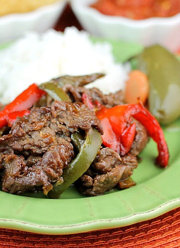 Carne Asada Marinated Sirloin Steak and  Peppers