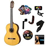 Yamaha CG182S Classical Guitar BUNDLE w/ Legacy Accessory Kit (Tuner, DVD, Picks, Capo and More)