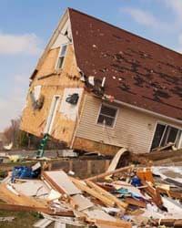 House after a tornado