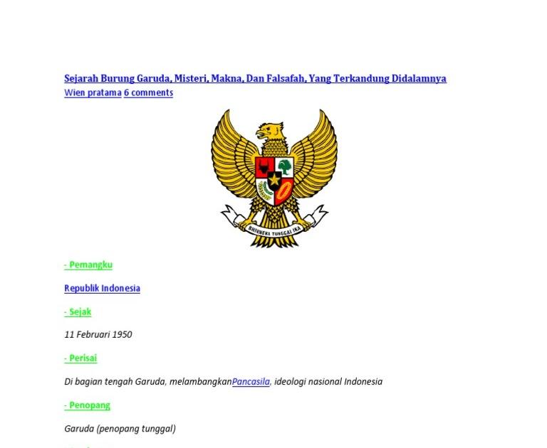 Mewarnai Burung Garuda Pancasila - GAMBAR MEWARNAI HD