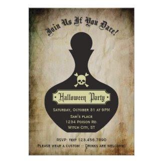 Poison Bottle Halloween Party Invitation
