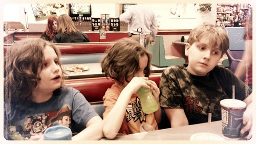 Charlie, Miles and Louis Waiting for Dinner