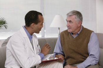 Photo of a doctor with his patient
