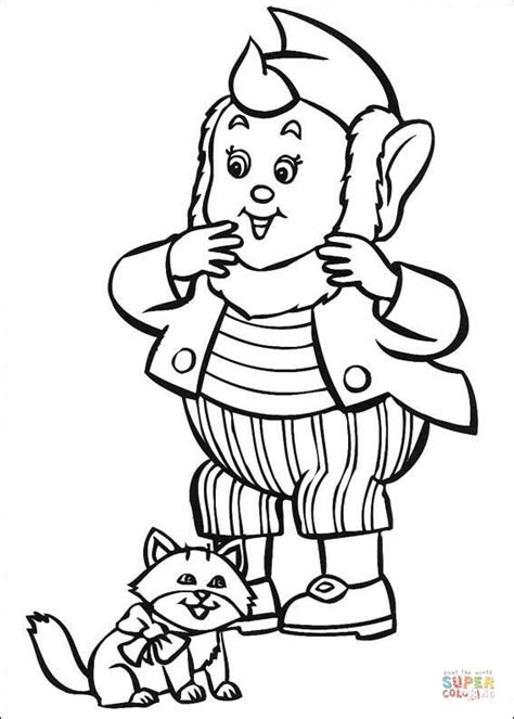big ears   cat coloring page  printable