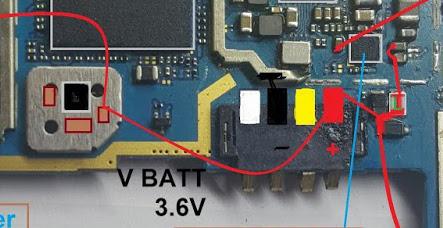 Samsung Galaxy Note 3 Neo Battery Connector Terminal Jumper Ways