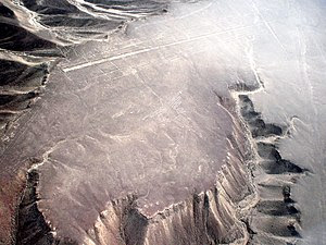 Nazca lines in Peru with high contrast image