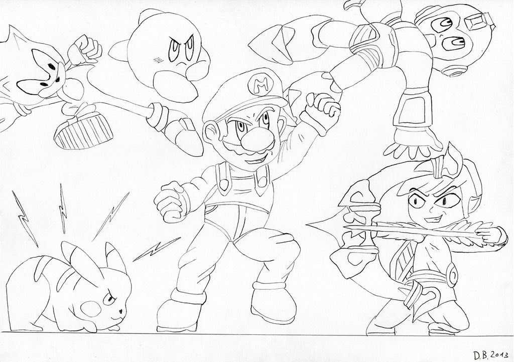 Super Smash Bros Coloring Pages at GetColorings.com | Free ...