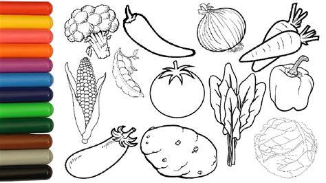 vegetables coloring pages  kids tomato potato corn