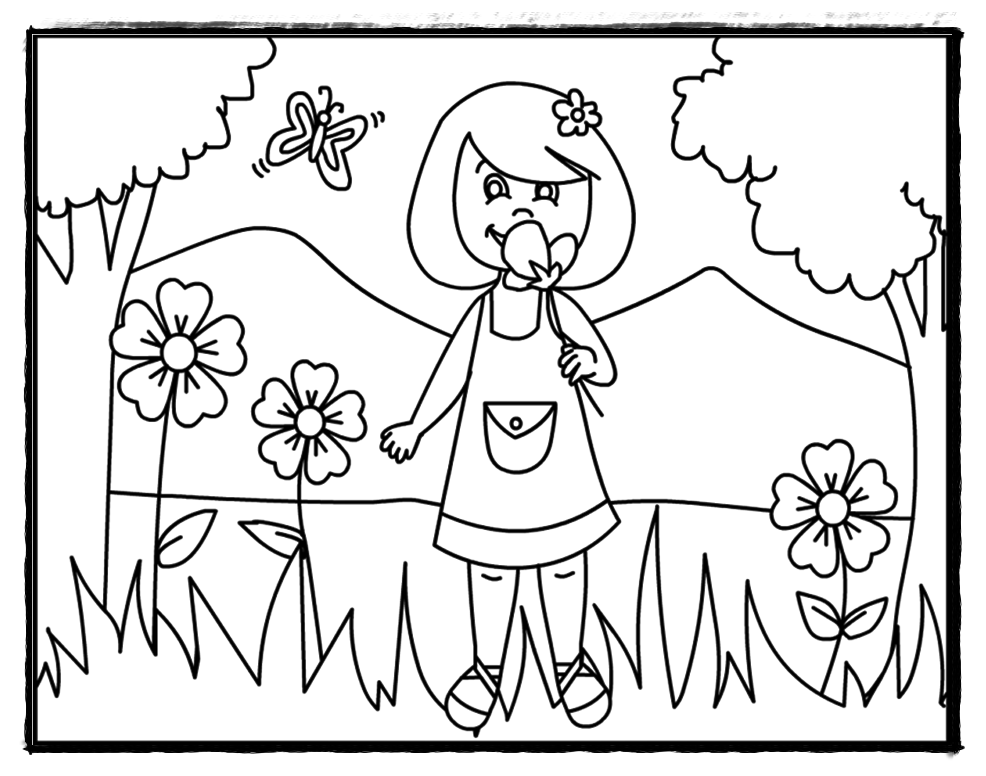 Preschool Summer Coloring Pages - Coloring Home