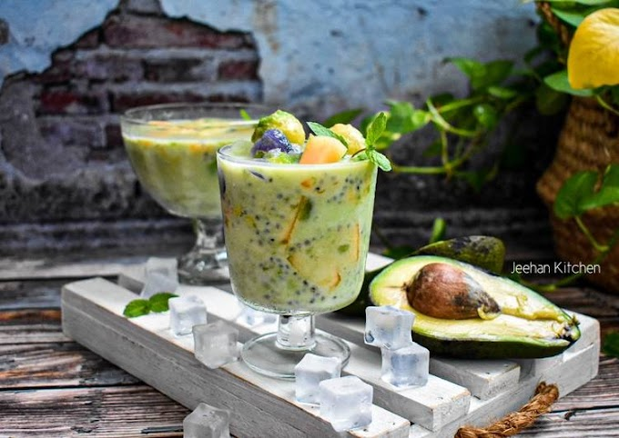 Recipe: Delicious Air buah Campur Avocado