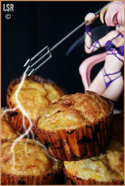 muffins zucca, salsiccia, parmigiano e rosmarino