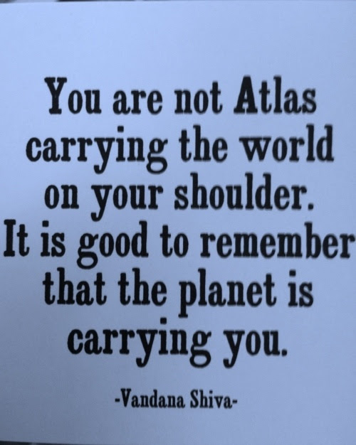 You Are Not Atlas Carrying The World On Your Shoulder It Is Good To