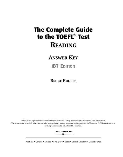 Kunci Jawaban Toelf Complete Test Four - lasoparockstar