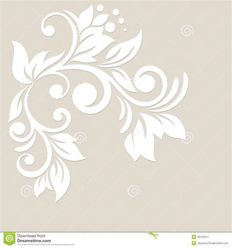 Floral Background. Wedding Card Or Invitation Stock