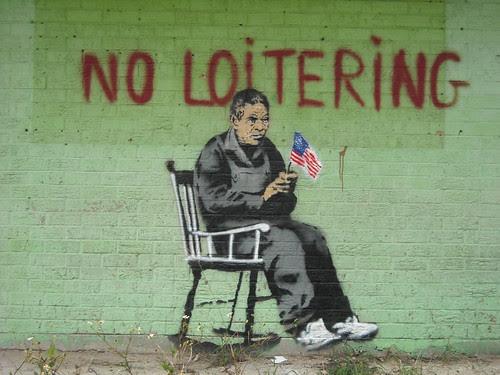 Banksy - No Loitering - phot by NoLA Rising