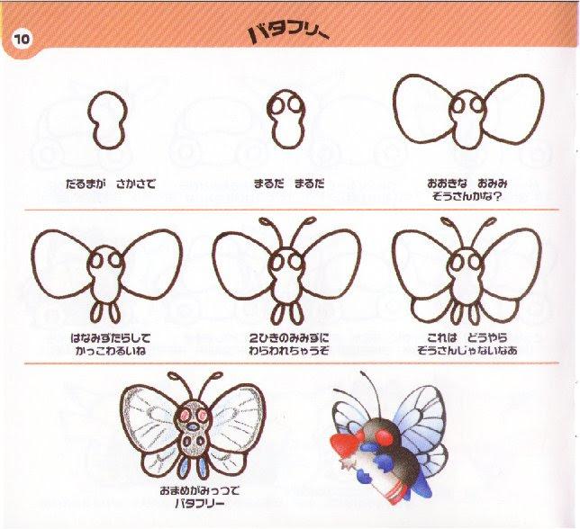 Butterfree De Pokemon Dibujando