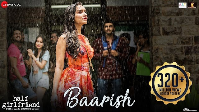 Baarish song lyrics - Ash king & Shaasha tirupati | lyrics for romantic song