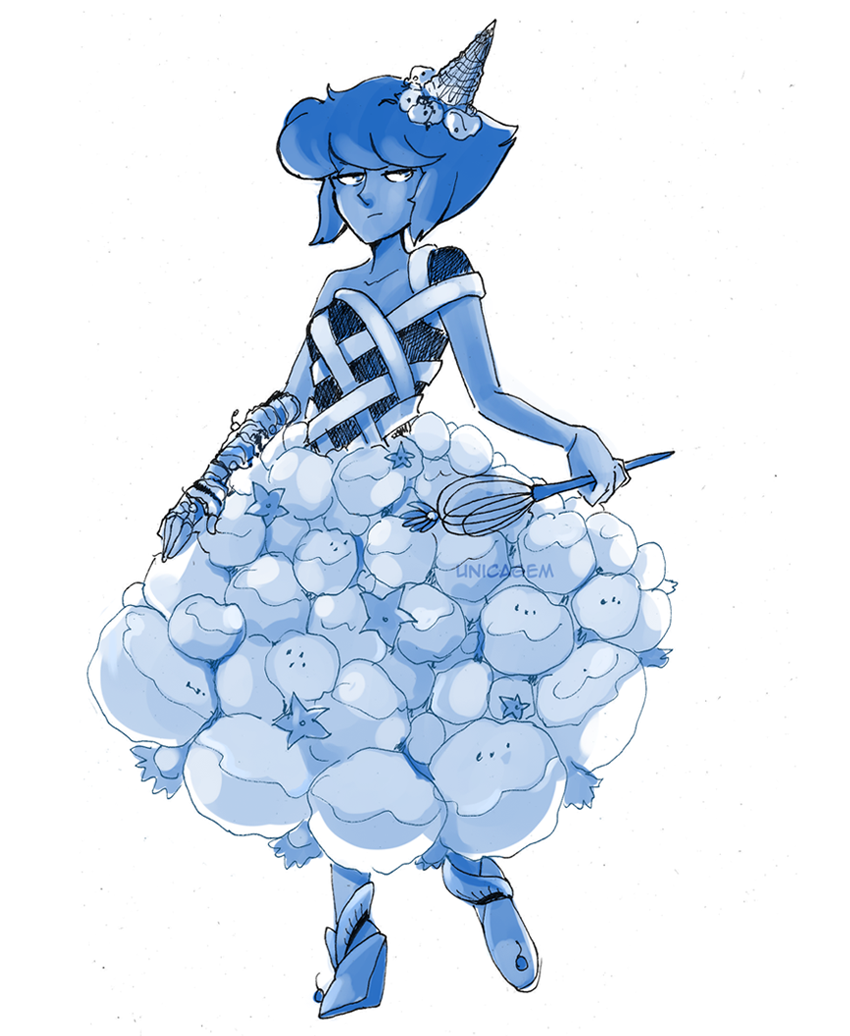 """30 Day Magical Girl Drawing Challenge - Day #11: Dessert/sweets "" Lapis Lazuli!"