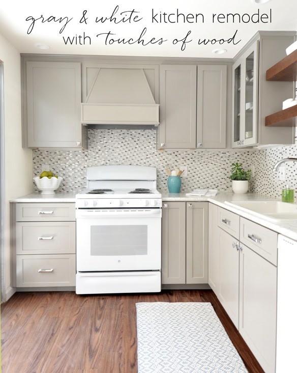 Gray + White Kitchen Remodel | Centsational Style