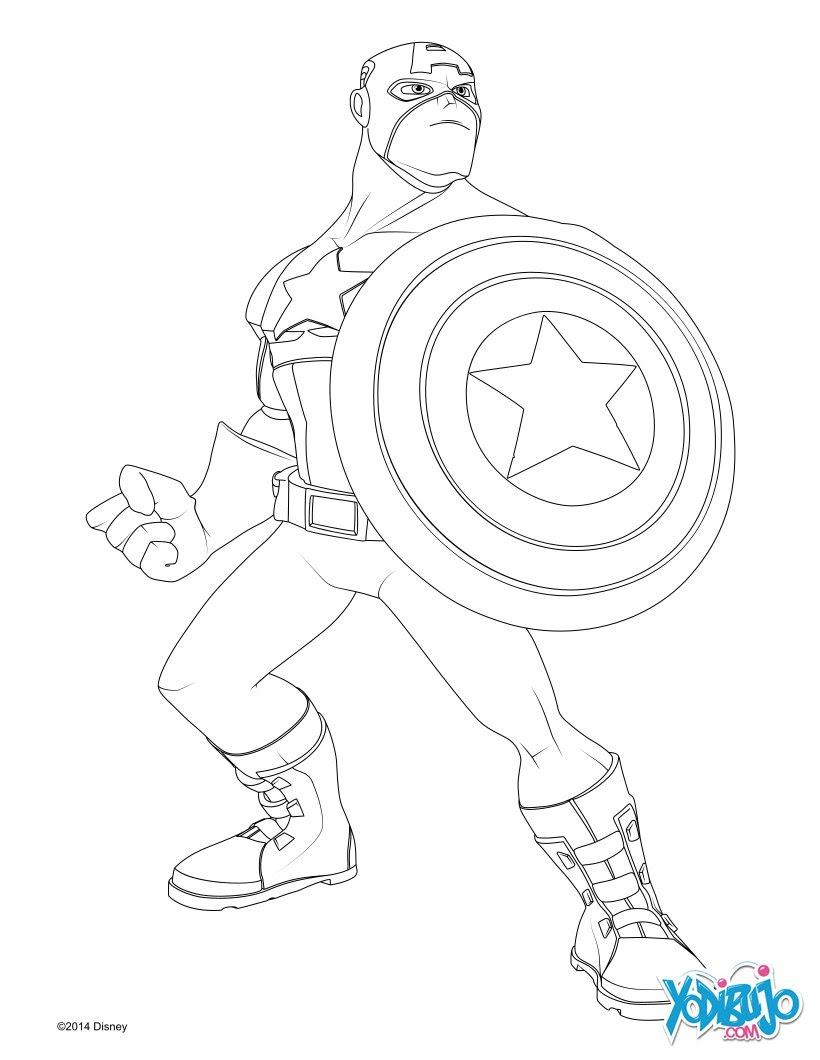 Dibujos Para Colorear Capitán América Eshellokidscom