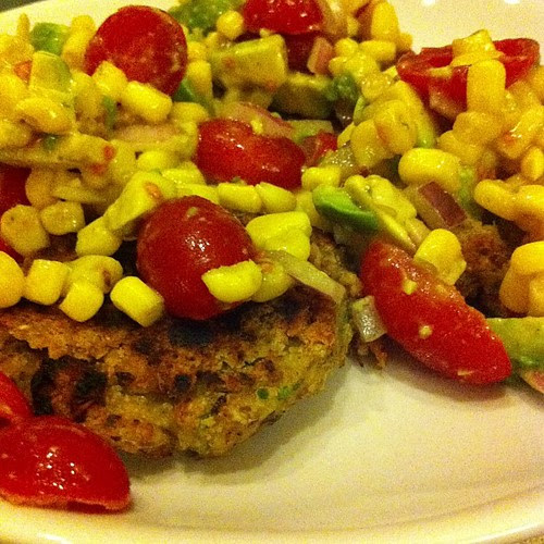 Southwestern Falafel with Corn Avocado Salsa #wfd