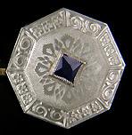 Sapphire and diamond cufflinks. (J9164)