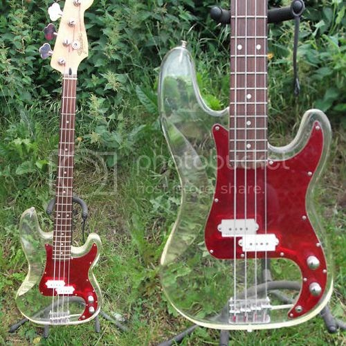 guitar blog custom built plexiglass bodied precision bass with fender and squier parts. Black Bedroom Furniture Sets. Home Design Ideas