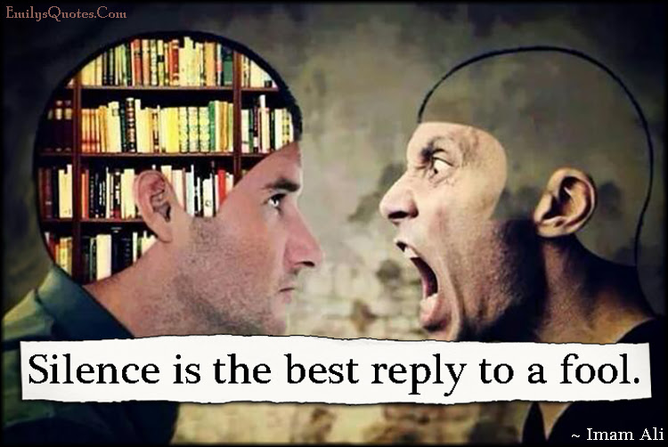 Silence Is The Best Reply To A Fool Popular Inspirational Quotes