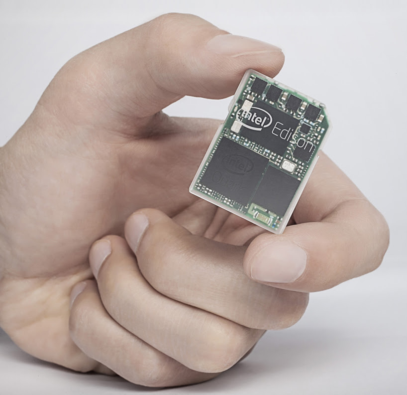 intel edison is an SD-card sized dual-core computer