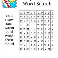 Easy Weather Word Search