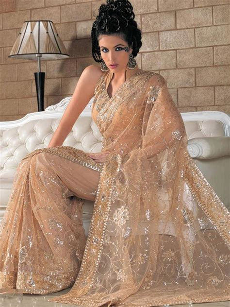 Fawn Net #Saree with Blouse   Best Selling Sarees