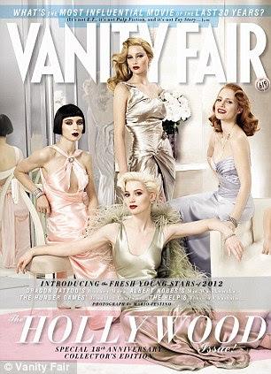 Glamour retro: As atrizes brilham na capa da edição anual de Hollywood