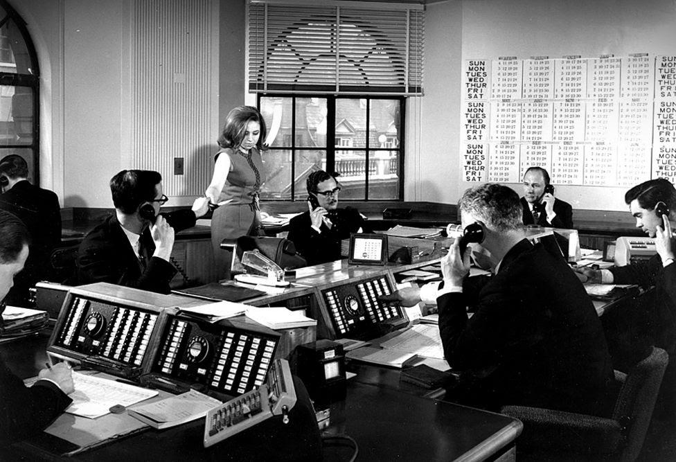 Bank of England Dealing Room, 1965