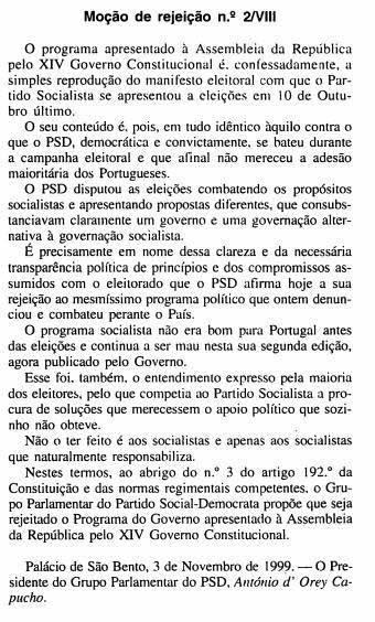 Mocao rejeicao psd 1999