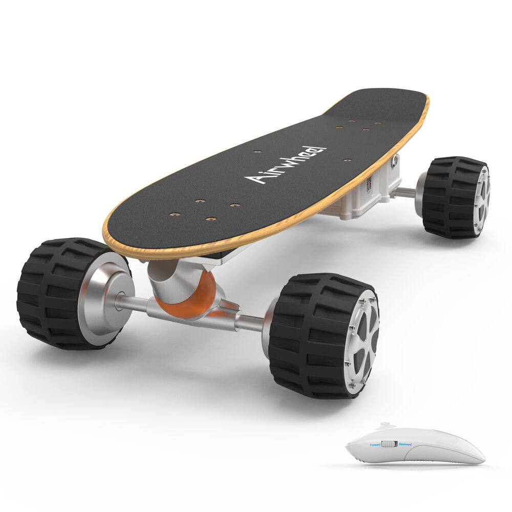 Airwheel M3 Electric Skateboard Off Road Riding Scooter 4 Wheels With Remote  eBay